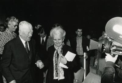 Oskar Kokoschka y Carmen Delgado de March. Exposición Oskar Kokoschka