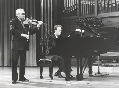 Víctor Martín y Agustín Serrano. Concierto Brahms, música de cámara