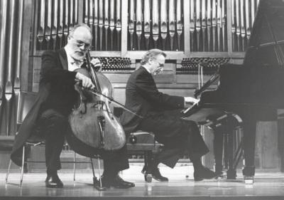 Pedro Corostola y Manuel Carra. Concierto Brahms, música de cámara