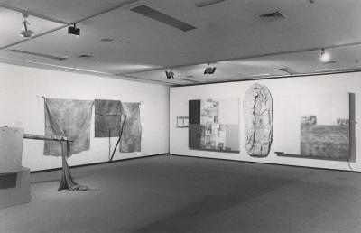 Vista parcial de la exposición Robert Rauschenberg