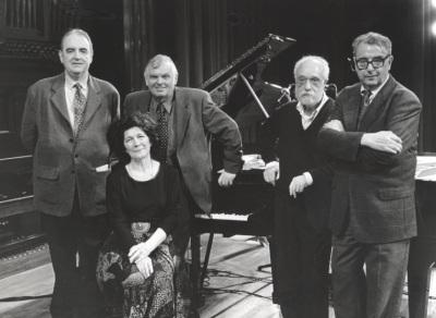 Tomás Marco, Karl-Hermann Mrongovius, Begoña Uriarte, Josep Soler y Joan Guinjoan. Concierto Aula de (Re)estrenos (33)