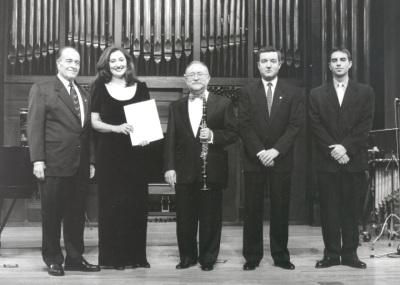 Ramón Barce, Mª José Montiel, Jesús Villa Rojo, Gerardo López Laguna, Alfredo Anaya y Eulalia Solé. Concierto Homenaje a Ramón Barce - Aula de (Re)estrenos (36)