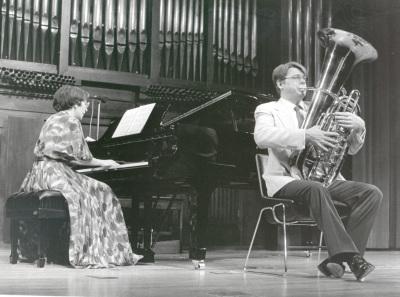 David Moen y Olga Semushina. Concierto Alrededor del trombón