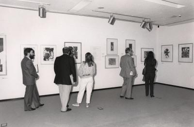 Vista parcial de la exposición Xilografía alemana del siglo XX