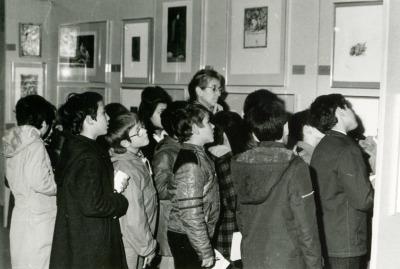 Vista parcial de la exposición Calcografía Nacional