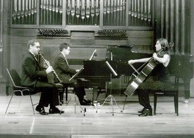 Cecilia de Montserrat, Javier Prieto y José Ramón Alonso. Recital de música de cámara