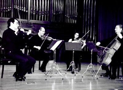 David Mata, Ángel Ruiz, Eva Martín y John Stokes. Concierto Britten: música de cámara y canciones