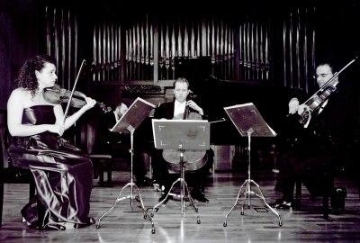 Ana Francisca Comesaña, Manuel Román, Ángel García Jerman y Kennedy Moretti. Concierto Schumann-Brahms: cuartetos y quintetos con piano