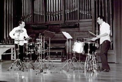 Dúo Cara a Cara, Raúl Benavent y Esaú Borredá. Recital de percusión