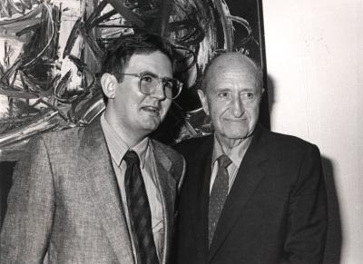 Juan Manuel Bonet y Amos Cahan. Exposición Arte español en Nueva York 1950-1970 Colección Amos Cahan