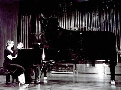 Carlos Lama y Sofía Cabruja. Recital de piano a cuatro manos