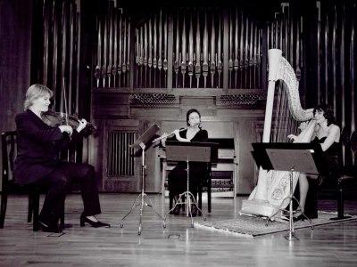 María Antonia Rodríguez, Julia Malkova y Michael Granados. Concierto El resurgir de la música inglesa