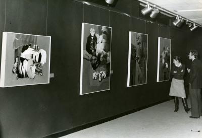 Vista parcial. Primera exposición de becarios de artes plásticas