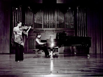 Irene Echeveste y Amalia Zipitria. Recital de violín y piano