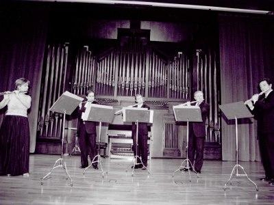 Juana Guillem, Antonio Arias Gago, José Oliver, José Sotores y Miguel Ángel Angulo. Concierto Flautas, del barroco al siglo XX