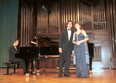 Sylvia Schwartz, Marco Schwartz y Julio Alexis Muñoz. Recital de canto y piano