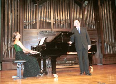 Irene Gaitani y Manuel Cid. Concierto Hugo Wolf en su centenario