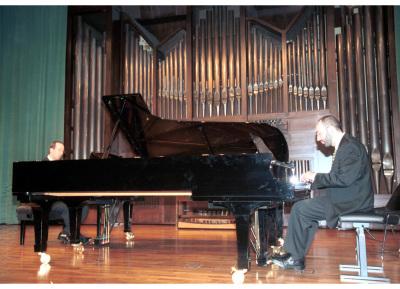Alberto Rosado y Kennedy Moretti. Concierto Música para dos pianos