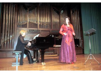 Ana Häsler y Chiky Martín. Concierto Hector Berlioz: dos siglos