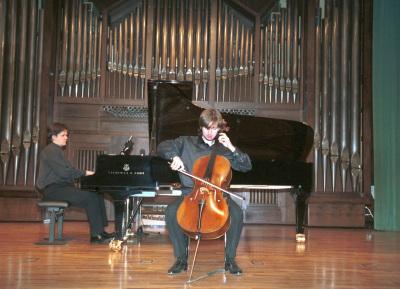 Piotr Karasiuk y Juan Carlos Garvayo. Concierto Tribuna de jóvenes intérpretes: I. El violonchelo