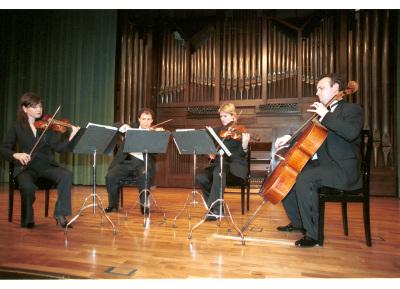 Cuarteto Wanderer, Yulia Iglinova, Rubén Darío Reina, Julia Malkova y Anton Gakkel. Concierto Dvorák en su centenario