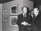 Ernest Beyeler, Carlos March Delgado y Manuel Arburúa de la Miyar. Exposición Jean Dubuffet, 1976