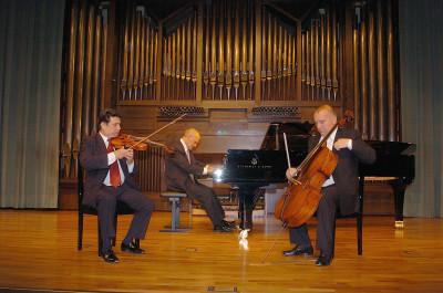 Trío Mompou, Joan Lluis Jordà, Dimitar Furnadjiev y Luciano González Sarmiento. Concierto Zarzuela de cámara: tríos y sextetos