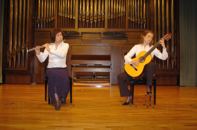Dúo Stravaganza, Anna Buczkowka y Teresa Folgueira. Recital de flauta y guitarra