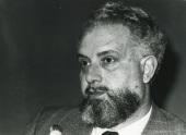 Julio Rodríguez Villanueva en el seminario sobre La investigación científica en la Universidad, 1975