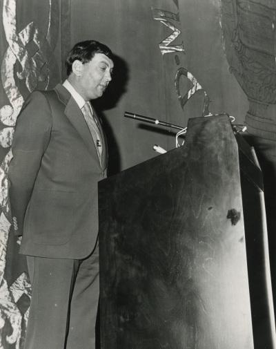 Heinz Spielmann en la conferencia inaugural de la exposición Oskar Kokoshka