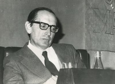 Miguel Delibes en el ciclo Literatura Viva