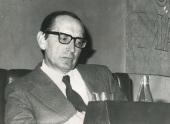 Miguel Delibes en el ciclo Literatura Viva, 1975