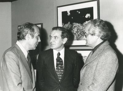 Francisco Farreras, Pablo López de Osaba y Profesor Plinke. Exposición Jean Dubuffet