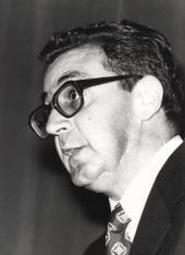 David Vázquez Martínez en la I Semana de Biología, 1977