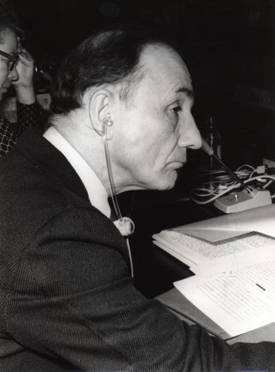 Edmund Pellegrino en el IX Simposio Interdisciplinar de Filosofía y Medicina