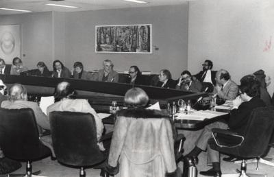 Antonio Bonet Correa en la reunión de la Asociación Española de Críticos de Arte