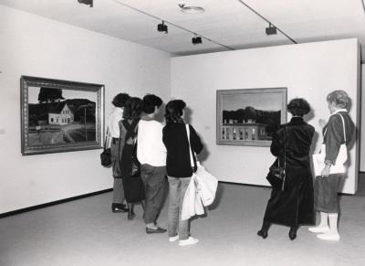 Vista parcial de la exposición Edward Hopper