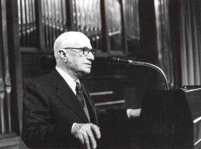 Rodolfo Halffter en el Homenaje a Rodolfo Halffter en sus 80 años