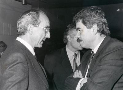 José Luis Yuste Grijalba y Pascual Maragall. Exposición Picasso: retratos de Jacqueline