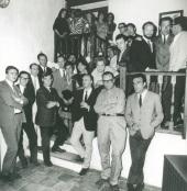 Grupo El Paso y Fernando Zóbel durante la inauguración del Museo de Arte Abstracto Español de Cuenca., 1966