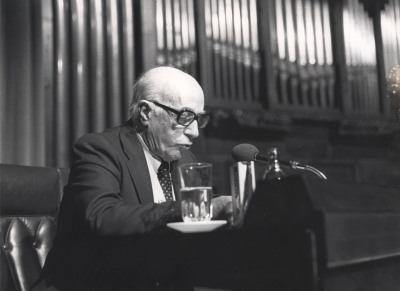 Ernesto Hallfter en el Homenaje a Ernesto Halffter