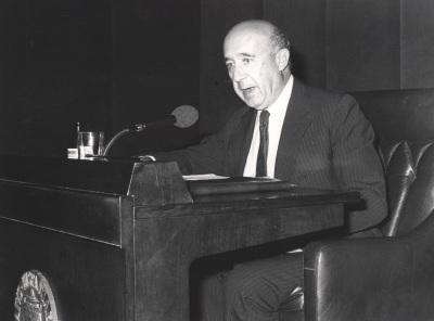 Gregorio Millán Barbany. Conferencia sobre Un siglo de ingeniería española: Esteban Terradas dentro del ciclo La ingenieria española en el siglo XX