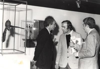 Eduardo Chillida y Santiago Amón. Exposición Giacometti: Colección de la Fundación Maeght
