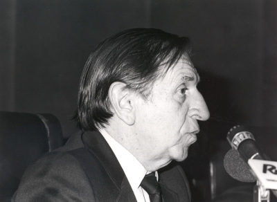 José María Amado en la presentación de dos números monográficos de la Revista Litoral