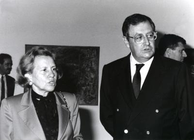 María Barroso y Juan March Delgado. Exposición Vieira da Silva