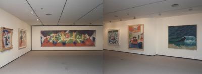 Vista parcial de la exposición David Hockney