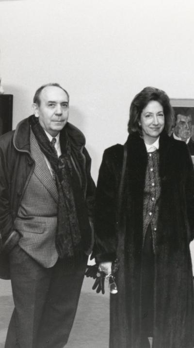 Gustavo Torner de la Fuente y María Corral. Exposición Malevich Colección del Museo Estatal Ruso, San Petersburgo