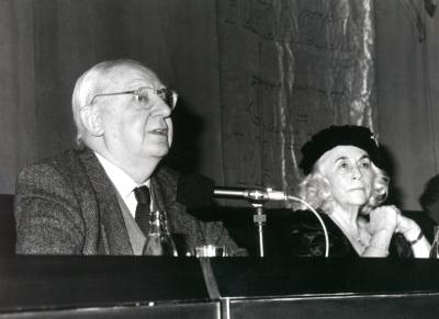 José Luis Borau y Carmen Martín Gaite en Encuentros con Carmen Martín Gaite