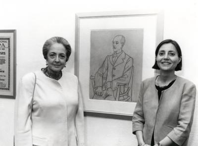 Maribel Falla y Brigitte Leal. Exposición Picasso. El sombrero de tres picos Dibujos para los decorados y el vestuario del Ballet de Manuel de Falla