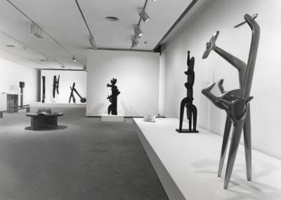 Vista parcial de la exposición Noguchi